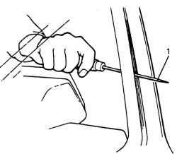 Прокалывание шилом рояльного шва