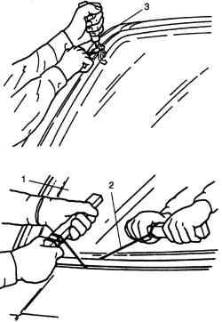 Прорезывание клеевого слоя