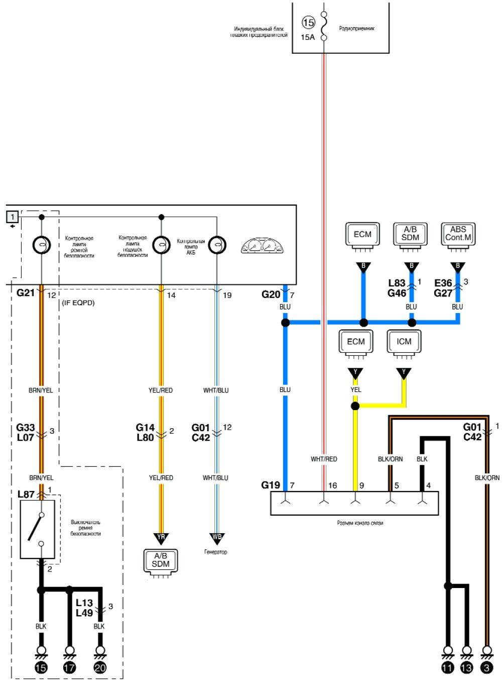 Suzuki liana схема проводки