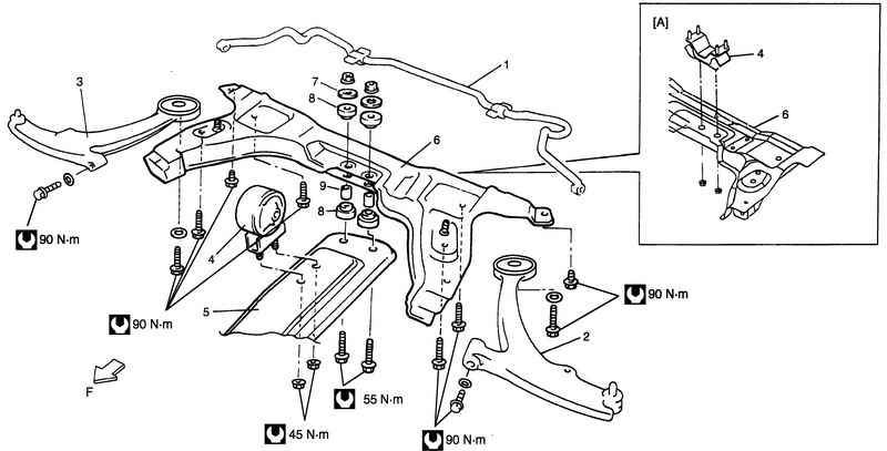 Схема ходовой части sx4