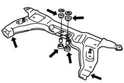 Проверка подрамника передней подвески