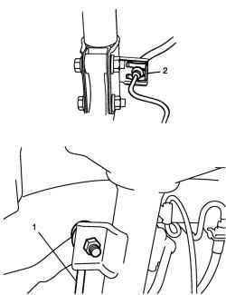 Шарнир стабилизатора и E-образное кольцо крепления тормозного шланга