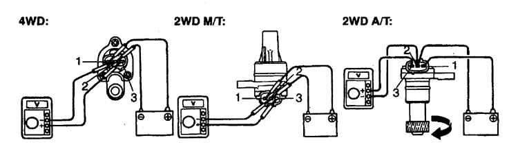 Схема для проверки датчика скорости.  Проверка и замена.