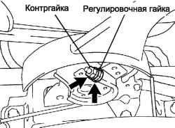 Регулировочная гайка стояночного тормоза
