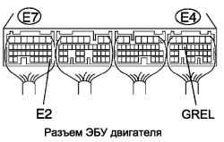 Разъем ЭБУ двигателя