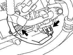 Разъем электромагнитной муфты и хомут жгута проводов