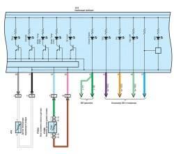 Схема комбинации приборов (часть 5)