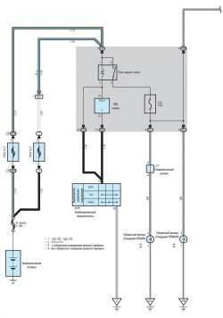 Схема задних габаритных фонарей (часть 1)