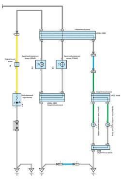 Схема задних габаритных фонарей (часть 2)