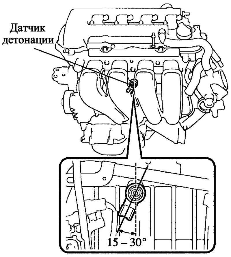 Фото №23 - схема проводки датчика детонации ВАЗ 2110