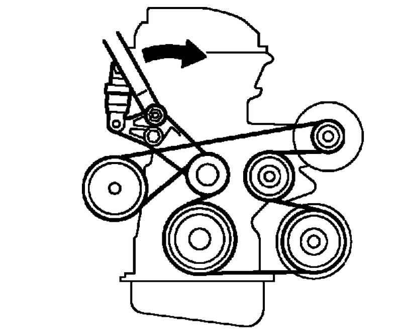 Схема навесного ремня 1zz