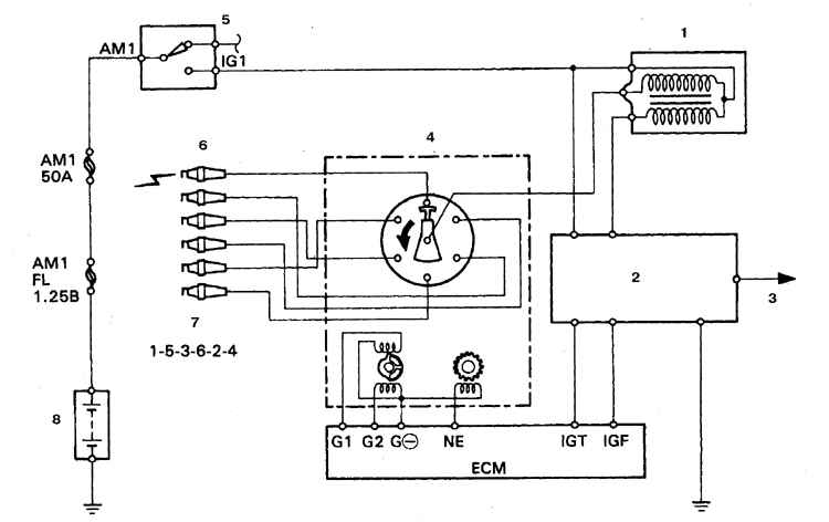Схема индукционный датчик.
