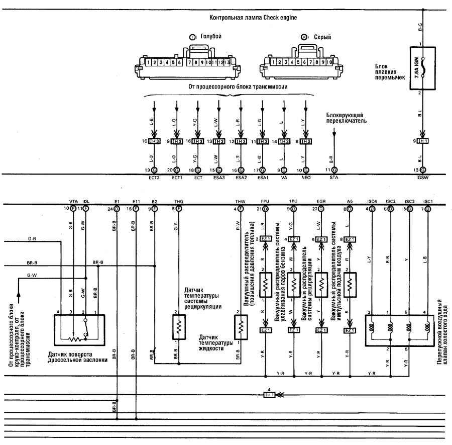 Схема генератора тойота ленд крузер 80