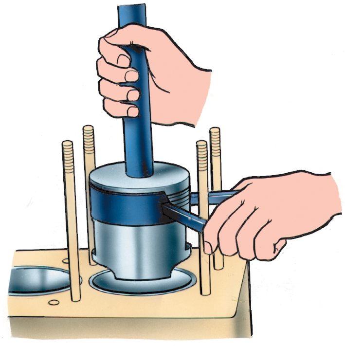Как сделать поршень и цилиндра
