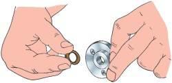 Установка уплотнительного кольца кpышки вала пеpеключения