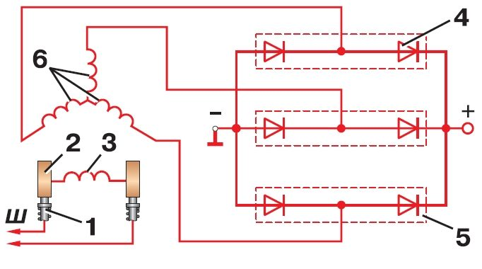 ветряной генератор схемы