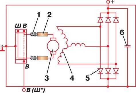 Контактная схема системы зажигания ваз-2108.  В основе схемы автомобильного генератора лежит принцип электромагнитной...