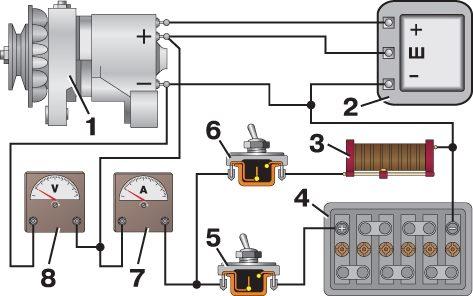 Уаз буханка электросхема b
