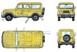 Основные размеры автомобиля УАЗ–3153