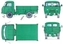 Основные размеры автомобиля УАЗ–3303