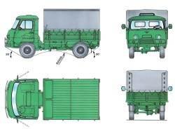 Основные размеры автомобиля УАЗ–33036 (* Для автомобиля с высокими бортами)