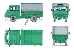Основные размеры автомобиля УАЗ–39095