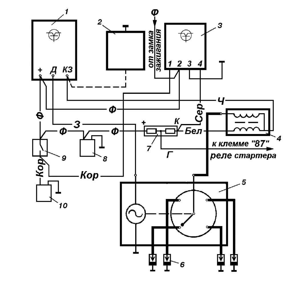 схема подкючения бесконтактного зажигания