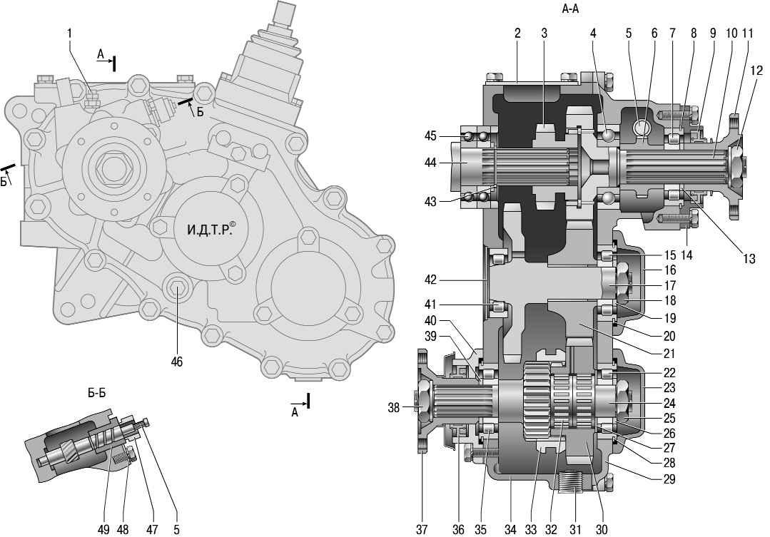 Для раздаточной коробки UAZ Patriot в качестве ведущего вала служит имеющийся во вторичном аналоге коробки передач...