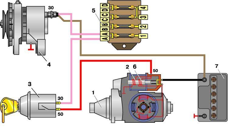 Схема электрооборудования Схема электрооборудования автомобиля ваз 21011 21013 генератор 9 стартер 10 подкапотная.