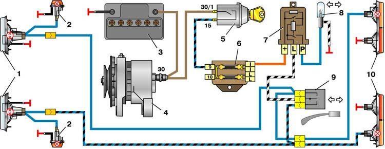 Электросхема ВАЗ 2101 полный .  Электрическая схема ВАЗ 21011 и ВАЗ...