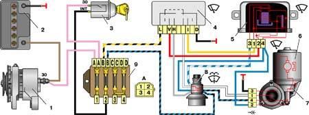 Схема электропроводки ваз-21011.