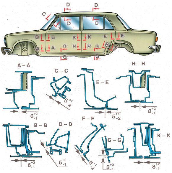 Ход построения модели кузова автомобиля ВАЗ 2108(09). передаёт все...