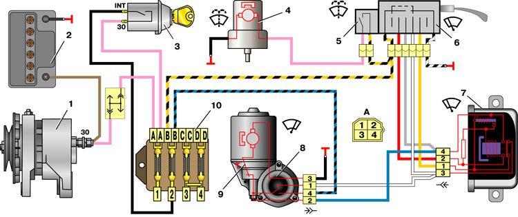 Электросхема подключения реле стеклоочистителя камаз - Всемирная схемотехника.