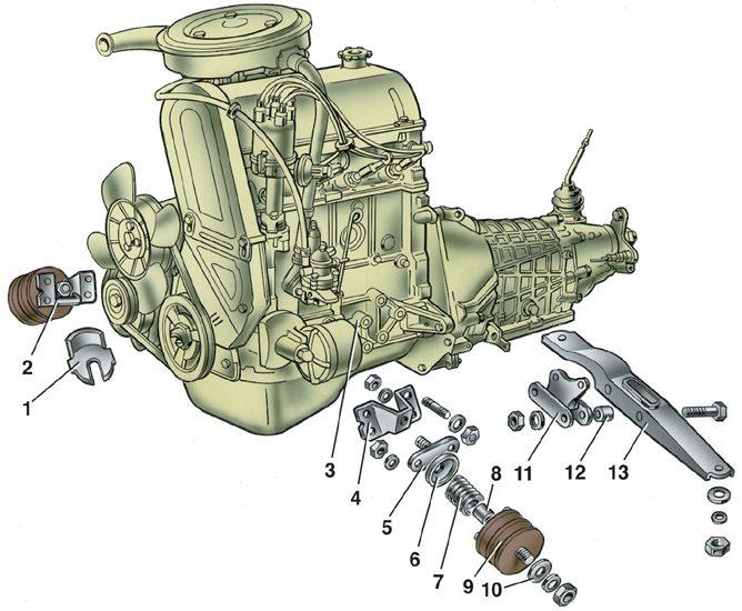 ваз 2103 схема двигателя