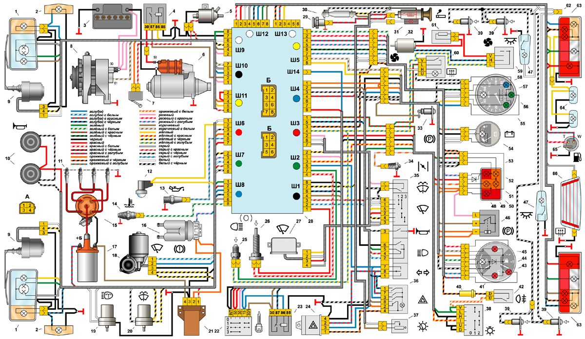 Ваз 21053 схема электрооборудования фото 981