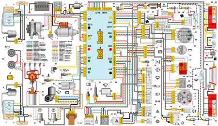 ... электросхема автомобиля ВАЗ-2105