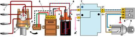 схема электрооборудования ваз 21011