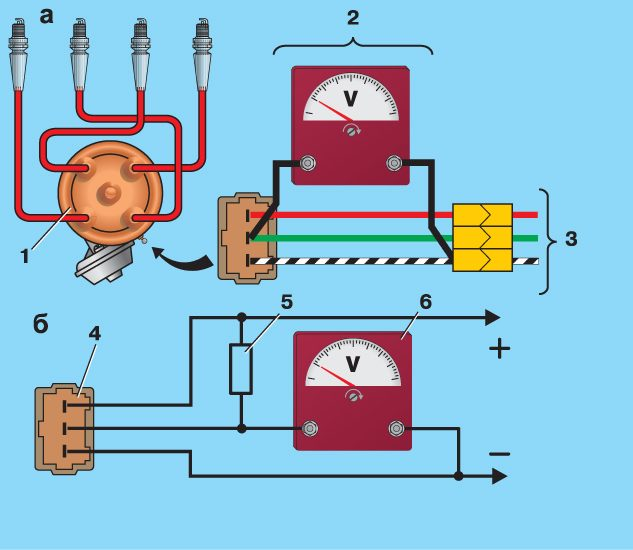 Схема бесконтактноу зажигание ваз 2105