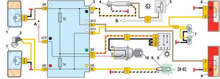 ВАЗ 2105 Схема электрооборудования.