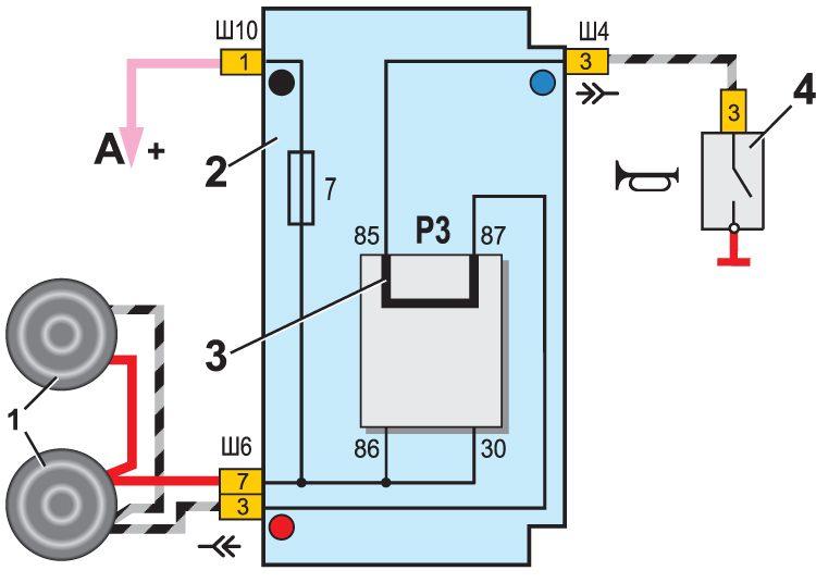 Схема подключения стоп сигналов ваз-2105.