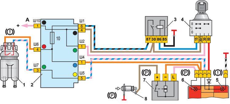 В чем может выражаться конструктивная особенность схемы соединений контрольных ламп тормозной системы у вашей машины...