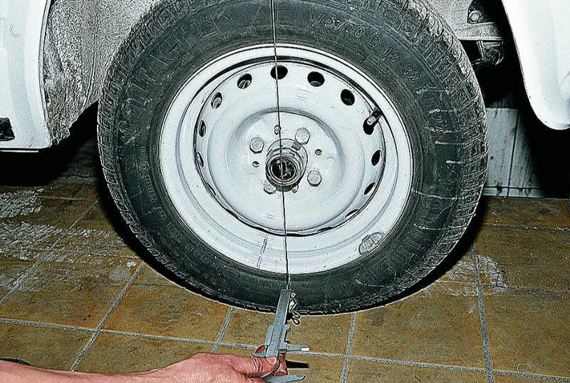 Развал-схождение колес ваз 2107