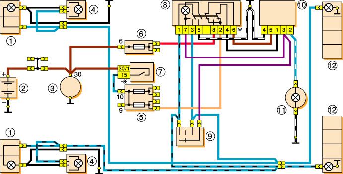 Ваз ремонт обслуживание эксплуатация ваз 2106 21061 жигули схема системы аварийной сигнализации и...
