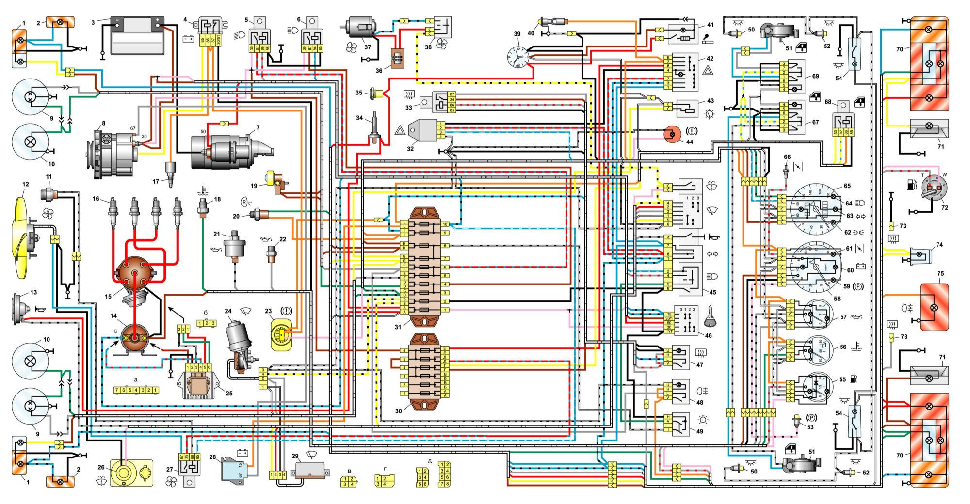 Ваз 21063 схема электрическая фото 670