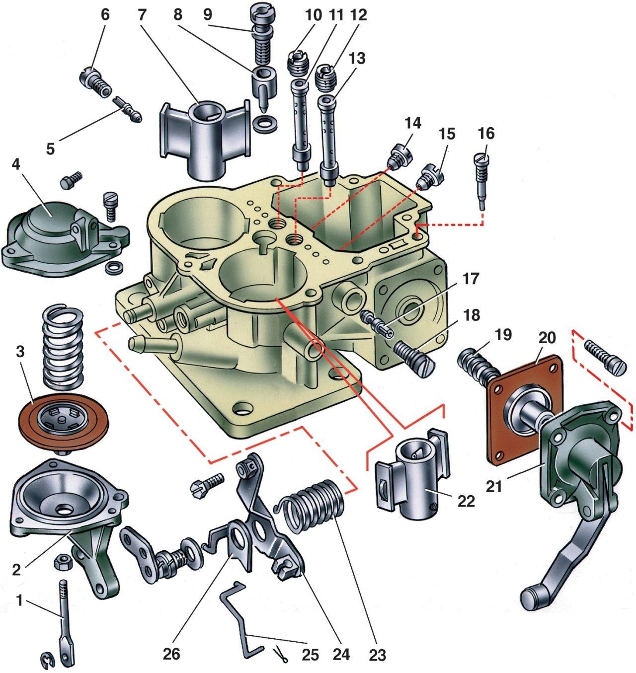 Схема карбюратора солекс 21053 фото 740