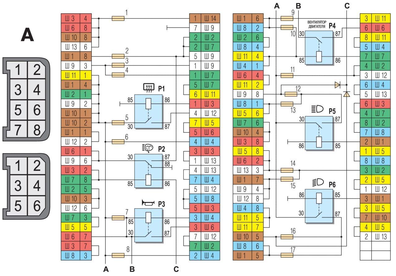 Схема электрооборудования автомобиля
