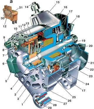электросхема бензонасоса 2110