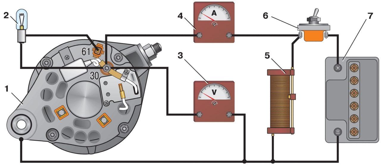 Схема соединений системы автомобиля ваз 2107