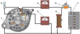 -7. Схема соединений для проверки генератора 37.3701 на стенде.