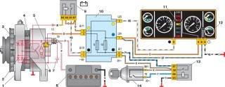 —6. Схема соединений системы генератора Г-222